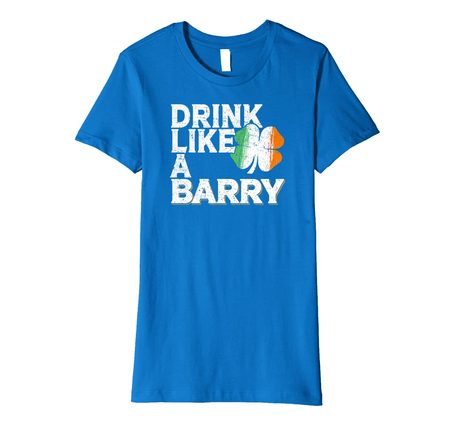 Drink Like a Barry St Patrick's Day Beer Irish Surname Premium T-Shirt-Awarplus