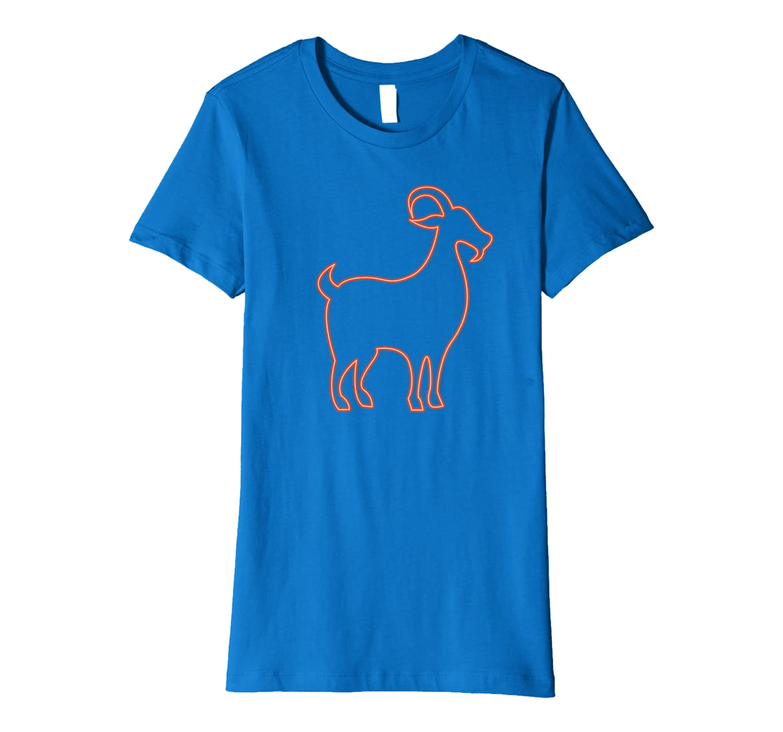 80s Retro Night Signboard Goat Shirt Funny Goat Premium T-Shirt