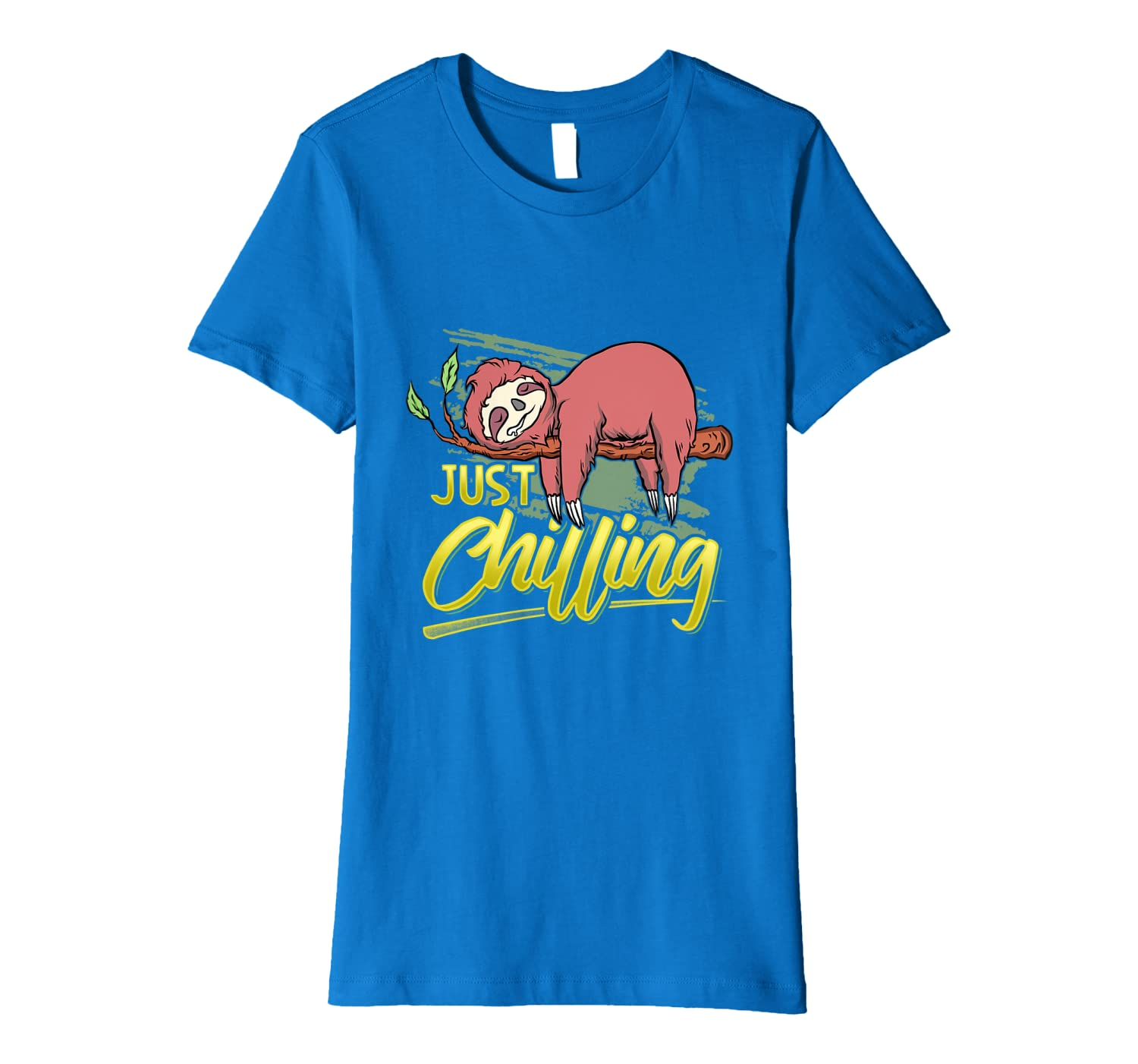 Just Chilling  Witty Statement For Couch Potatoes Premium T-Shirt