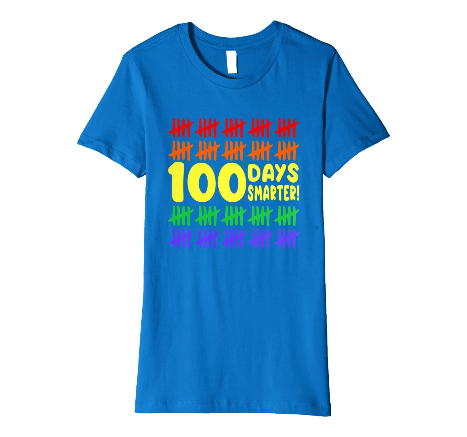 100 Days Smarter Counting Hash Marks Days of School kids Premium T-Shirt