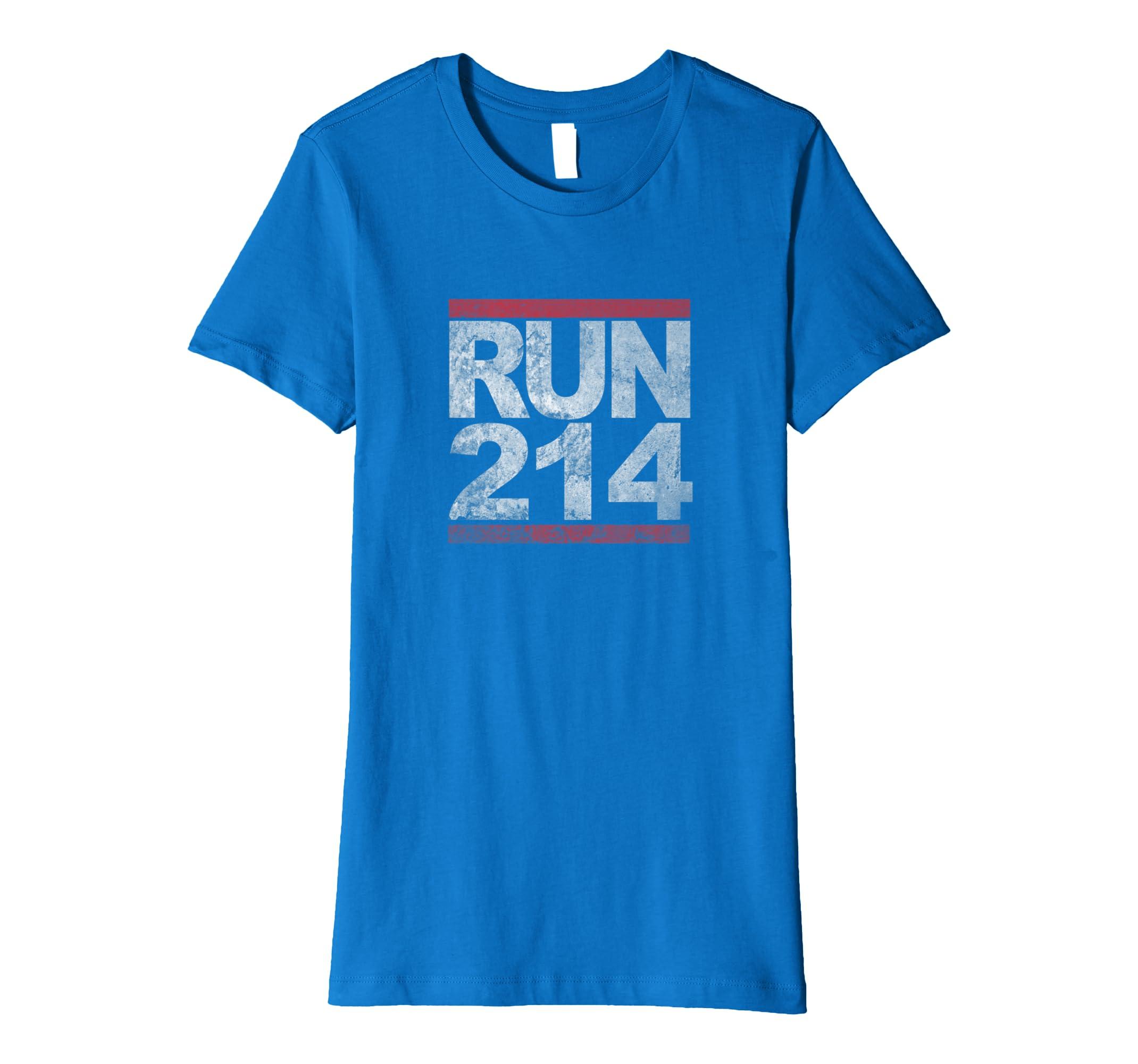 ff13154411eac Amazon.com: Run 214 T-Shirt Irving TX Jogging Shirt: Clothing