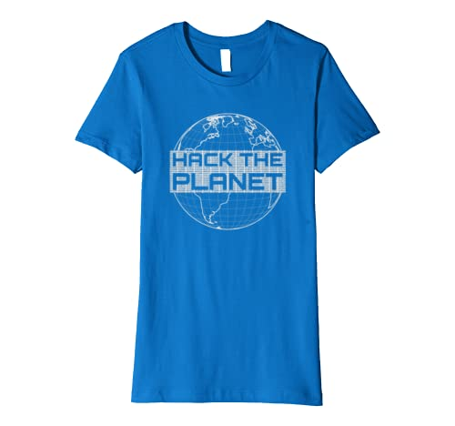 Hack the Planet Computer Hacker T-Shirt w/ Earth & Code Dump: Amazon
