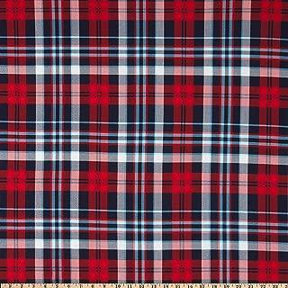 Fabric Merchants ITY Jersey Knit Plaid Red