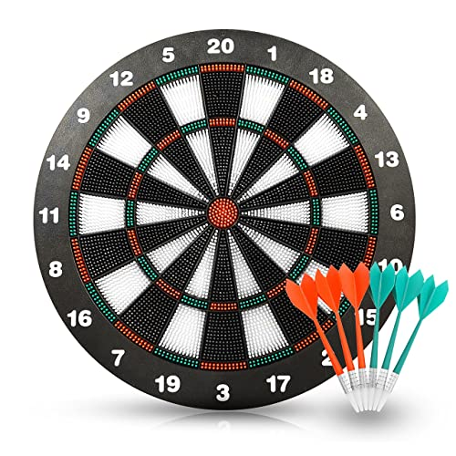 ActionDart Unisex's Target 1 Soft Tip Safety Dart Board-Games for Kids-Leisure Sport for Office (Set), 16