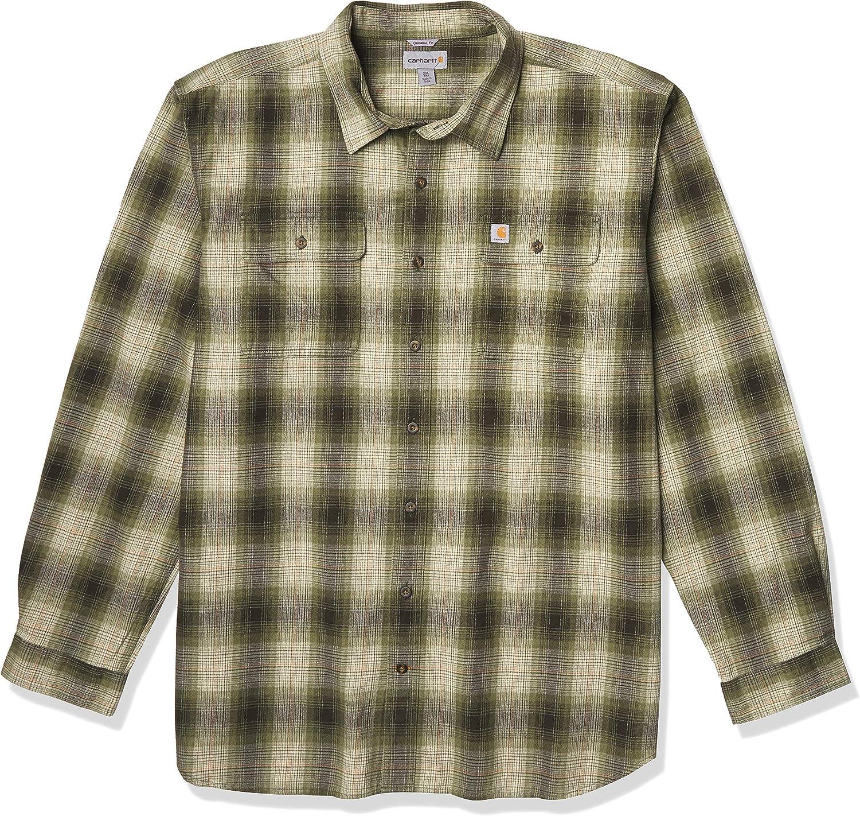 Carhartt Men's Original Fit Flannel Long-Sleeve Plaid Shirt