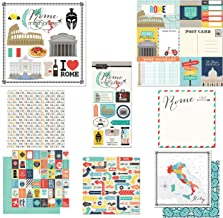 Scrapbook Customs Themed Paper and Stickers Scrapbook Kit, Rome City Memories