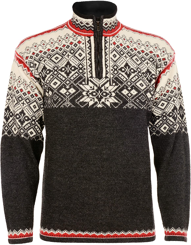 Norlender Men's Norwegian Wool Narvik Pullover Sweater w/ FREE 100% Wool Ski Cap