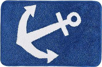 """Kleine Wolke"""" Anchor Bath Rug, Polyester, Royal Blue, 55 x 85 x 1.2 cm"""