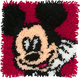 Dimensions Disney Mickey Mouse Latch Hook Craft Kit for Kids, 12'' x 12''