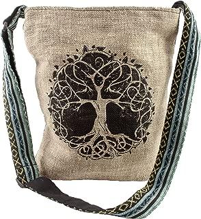 Casual Lightweight Hemp Tree of Life Purse crossbody bag sling bag boho hippie