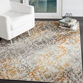 orange and cream rug