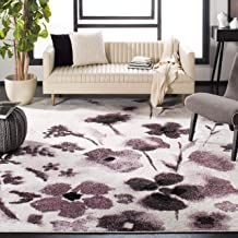 Safavieh Adirondack Collection ADR127L Ivory and Purple Vintage Floral Area Rug (5'1