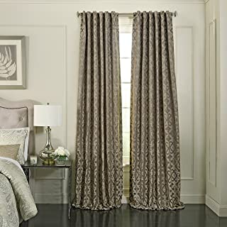 "BEAUTYREST Fashion Curtains for Bedroom, Mushroom, 52"" x 108"""
