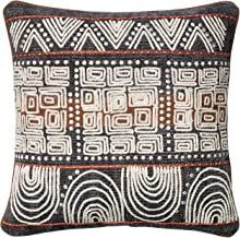 """Loloi Loloi-PSETP0379BBRUPIL1-Blue Decorative Accent Pillow Cotton & Polyester & Other 18"""" x 18"""" Cover w/Poly, 18"""" x 18"""", ..."""