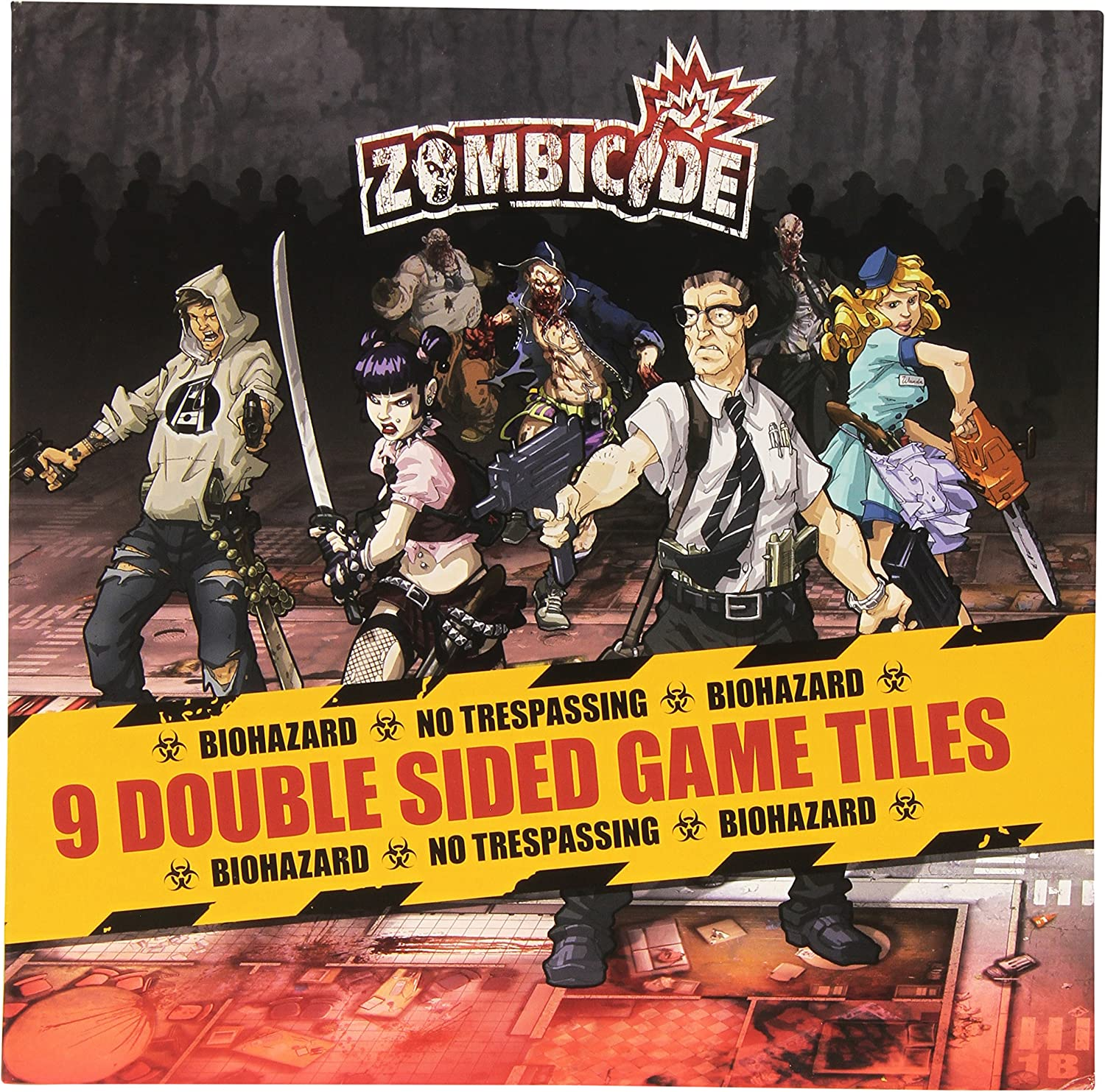 Cool Mini or Not Zombicide  9 Double Sided Game Tiles