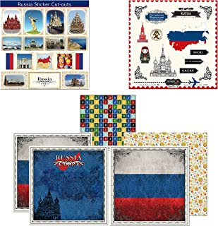 Scrapbook Customs Themed Paper and Stickers Scrapbook Kit, Russia Sightseeing