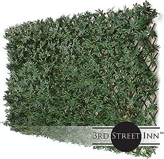 3rd Street Inn Cannabis Leaf Trellis 4-Pack - Fake Weed Plant - Smoke Shop Decor - Marijuana Wall Art - Boxwood and Ivy Privacy Fence Substitute - DIY Flexible Fencing (Cannabis)