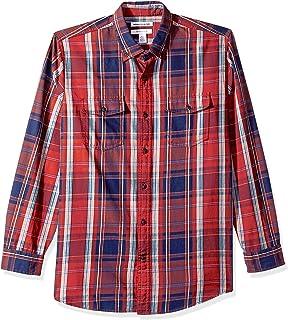 Amazon Essentials Camisa de sarga de dos bolsillos de manga larga de ajuste regular. Camisa de botones para Hombre