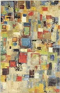 Mohawk Home Prismatic Saratoga Abstract Printed Contemporary Area Rug, 5'x8', Multicolor