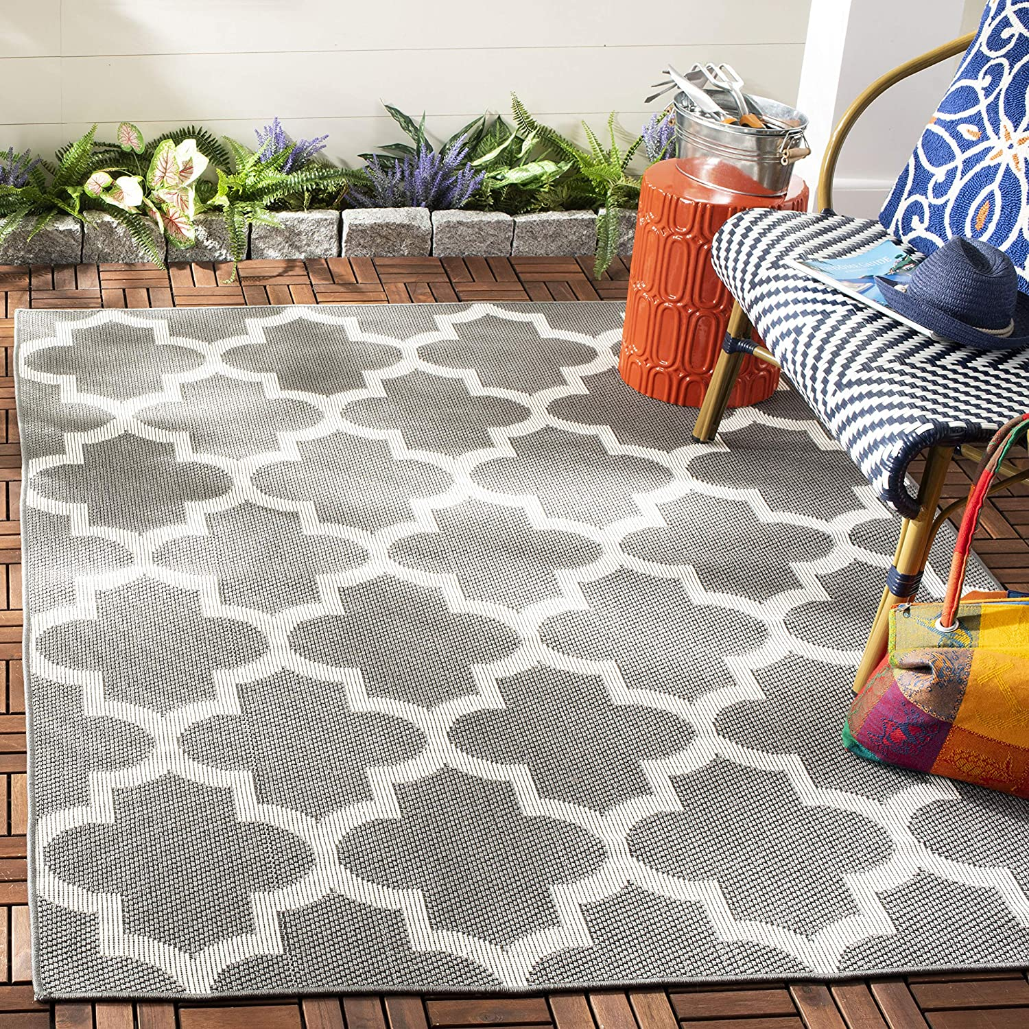 Safavieh It is very popular Bermuda Special price for a limited time Collection BMU804F Indoor Trellis Non- Outdoor