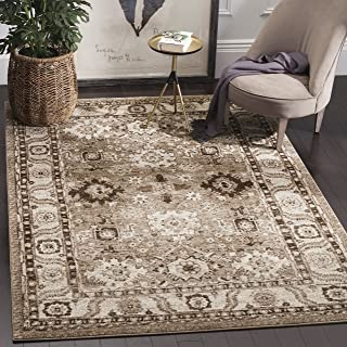 Safavieh Vintage Hamadan Collection VTH214T Oriental Antiqued Taupe Area Rug (4' x 6')