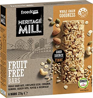 Freedom Foods Heritage Mill Fruit Free Bars, (Pack of 6)