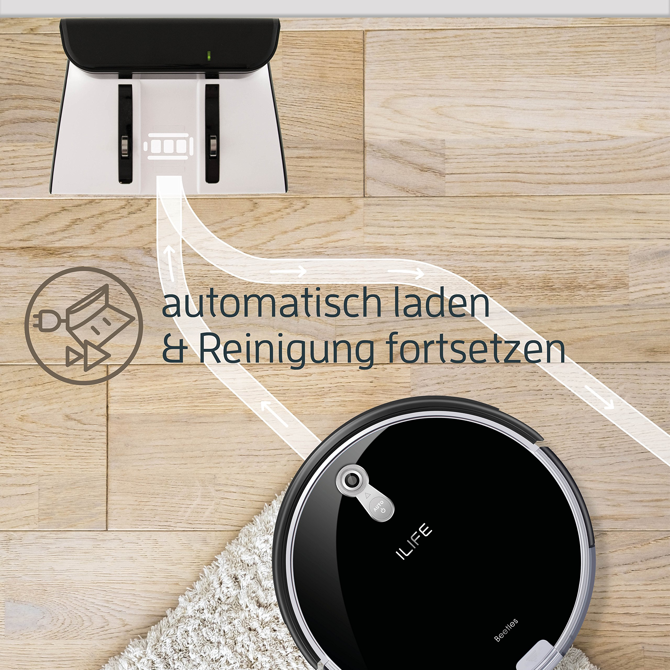 ILIFE A8 Robot Aspirador Negro: Amazon.es: Hogar