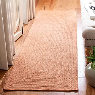 """Safavieh Braided Collection BRD168A Handmade Country Cottage Reversible Cotton Runner, 2'3"""" x 6' , Multi"""