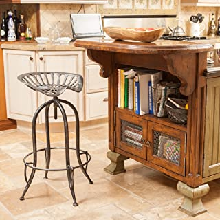 Christopher Knight Home Rancher Bar Stool, black brushed silver