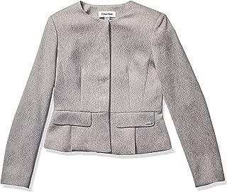 Calvin Klein Women's Twill Peplum Jacket