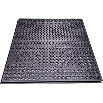 Black Color Protective Flooring for Your Garage Office or Gym Grid Texture 12-inch 10 Pack Resilia Flexible Interlocking Snap Floor Tiles Home 0.25-inch