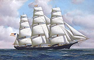An American Clipper Ship Flying Cloud at Sea Under Full Sail by Antonio Jacobsen - 16