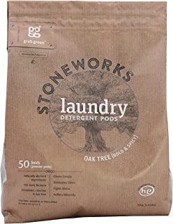 Grab Green Stoneworks Laundry Detergent Pods, Oak Tree, 50 Count (Pack of 6)
