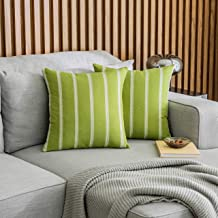 (46cm x 46cm , Set of 2, Lime Grass) - HOME BRILLIANT 2 Pack Modern Farmhouse Decorative Throw Pillow Covers Classic Count...