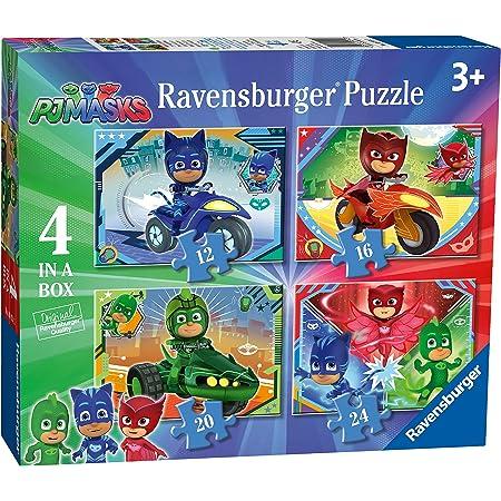 Ravensburger Puzzle, Pj Mask, 4 Puzzle in a Box, Puzzle Niños, Edad Recomendada 3+ , Rompecabezas Ravensburger