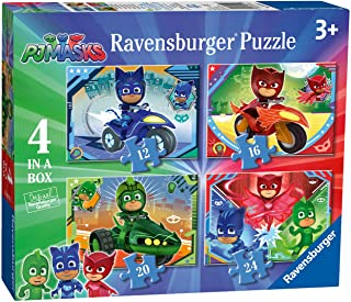 Ravensburger PJ Masks 4 in Box (12, 16, 20, 24 Piece) Jigsaw Puzzles for Kids Age 3 Years and Up