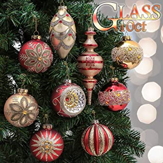 Best red and gold glass ornaments Reviews