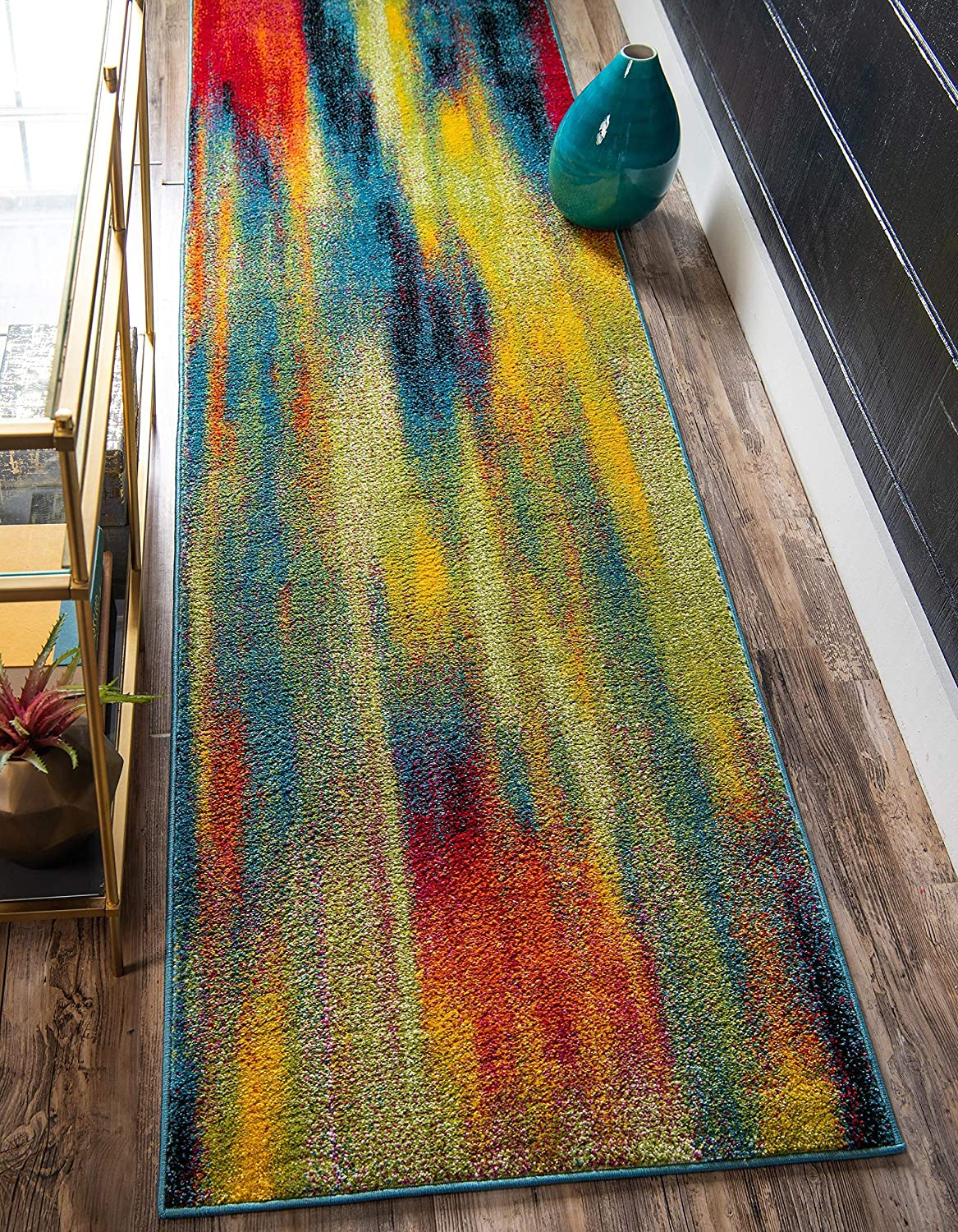 Unique Loom Max 41% OFF Lyon Super Special SALE held Collection Modern Abstract 2 Rug 6 Runner x Fe
