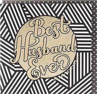 Rachel Ellen REZEB24 Zebra Crossing Pattern Husband Birthday Greeting Card