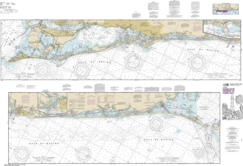 Noaa Chart 11425 Intracoastal Waterway Charlotte Harbor to Tampa Bay  40.42  X 58.74  Paper Chart