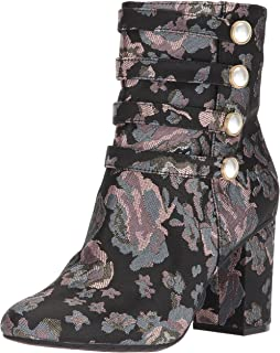 Women's Time to Be Ankle Bootie with Faux Button Detail Fabric