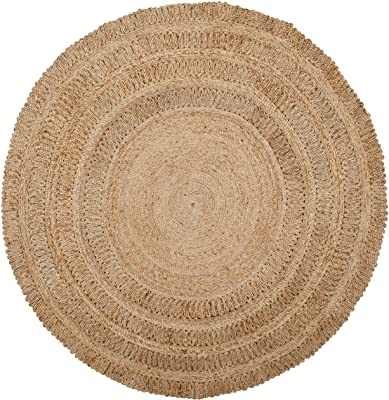 Safavieh Natural Fiber Round Collection NF356A Handmade Boho Charm Farmhouse Jute Area Rug, 3' x 3' Round, Natural