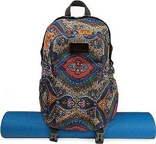 Kindfolk Yoga Mat Backpack Two Straps Patterned Canvas