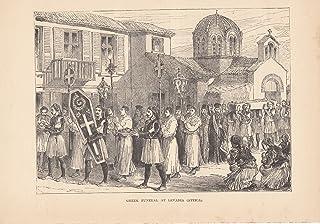 Greek Funeral at Levadia Attica - 1885 Image