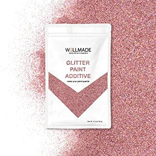 Wellmade Glitter Paint Additive for Wall Paint-Interior/Exterior Wall, Ceiling, Wood, Metal, Varnish, Dead Flat, DIY Art and Craft 150g/5.3oz (150g/1bag, Rose Gold Holographic)