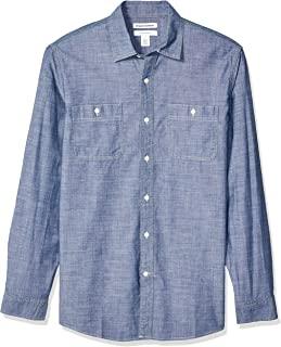 ZYSDHZ Camisas De Hombre Camisa De Manga Larga Hombres Camisa De Vestir Formal Formal para Hombres Talla M A 4XL