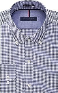 Men's Non Iron Slim Fit Gingham Buttondown Collar Dress Shirt