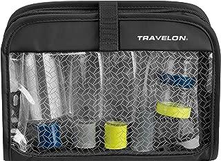 Travelon Wet Dry 1 Quart Bag with Plastic Bottles, Black, One Size