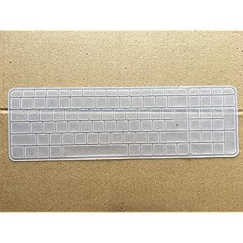 Saco Chiclet Keyboard Skin for HP 15-AB032TX 15.6-inch Laptop Transparent