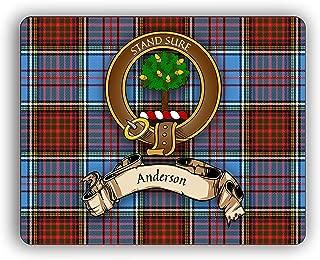 Scottish Clan Anderson Tartan Crest Computer Mouse Pad